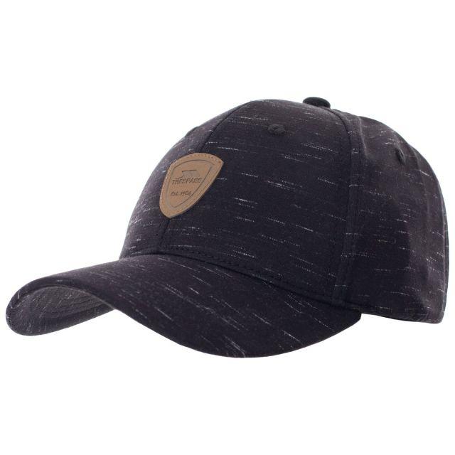 Trespass Adults Baseball Cap Woven Black, Hat at angled view