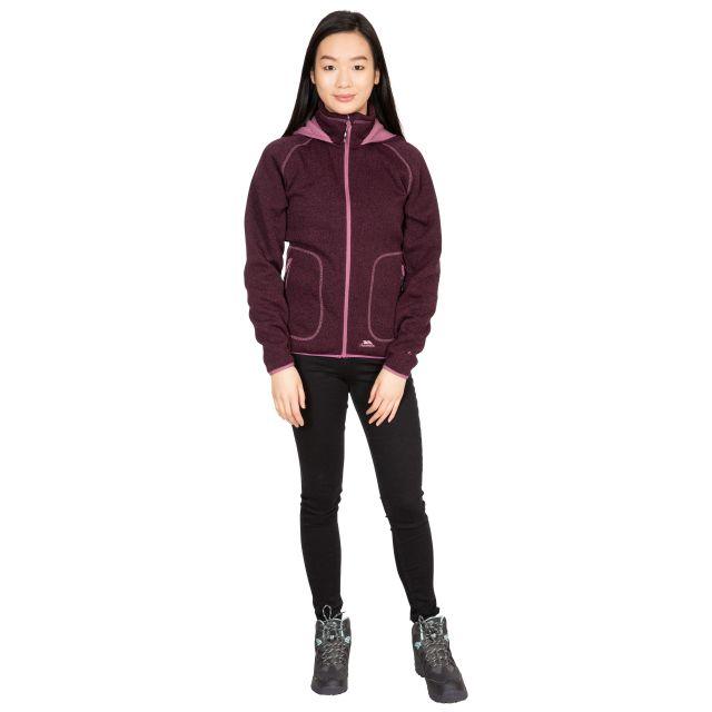 Splendor Women's Hooded Fleece Jacket in Purple