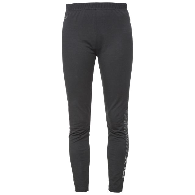 Splits Women's DLX Knitted Active Leggings in Black, Front view on mannequin