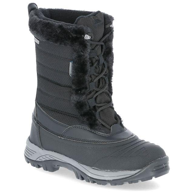 Stalagmite II Women's Fleece Lined Waterproof Snow Boots in Black