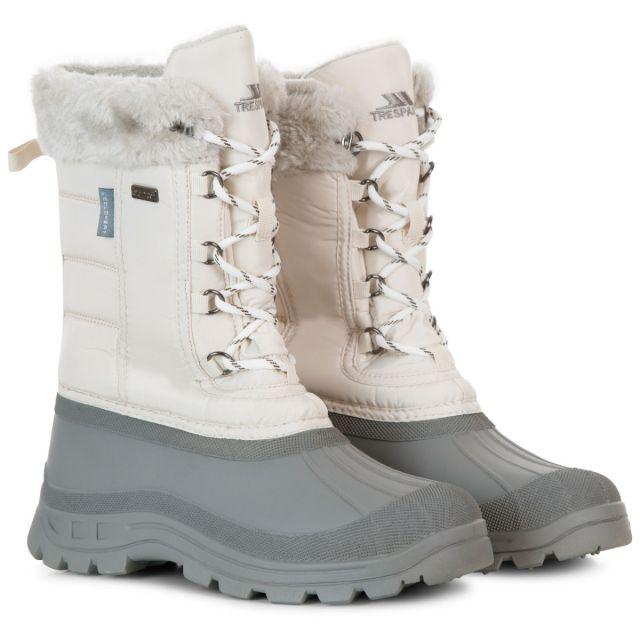 Stavra II Women's Fleece Lined Snow Boots in Cream