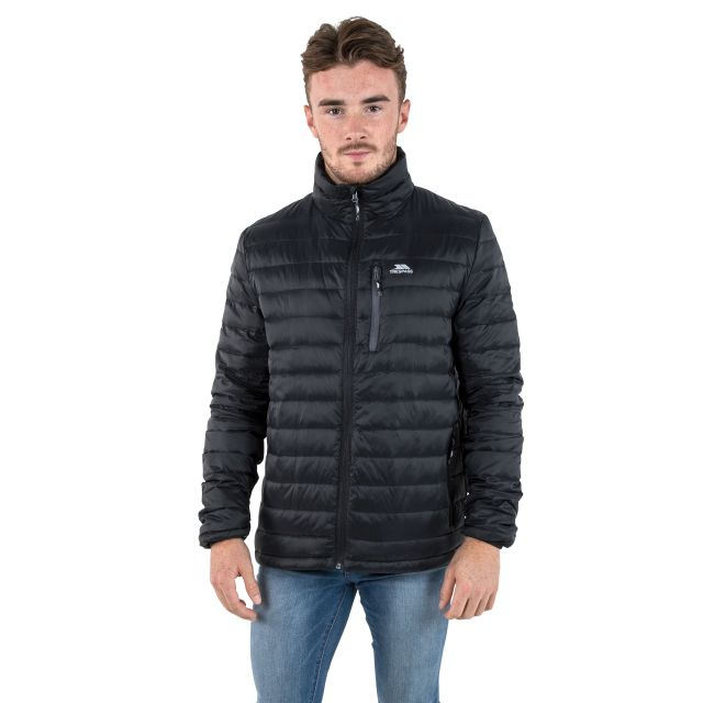 Stellan Men's Lightweight Down Jacket in Black
