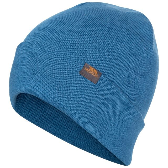 Stines Adults' Beanie Hat in Blue, Hat at angled view