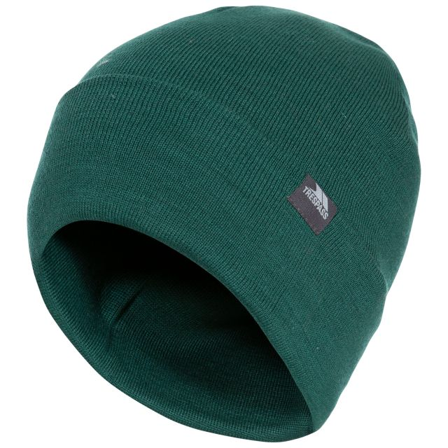 Stines Adults' Beanie Hat in Green, Hat at angled view