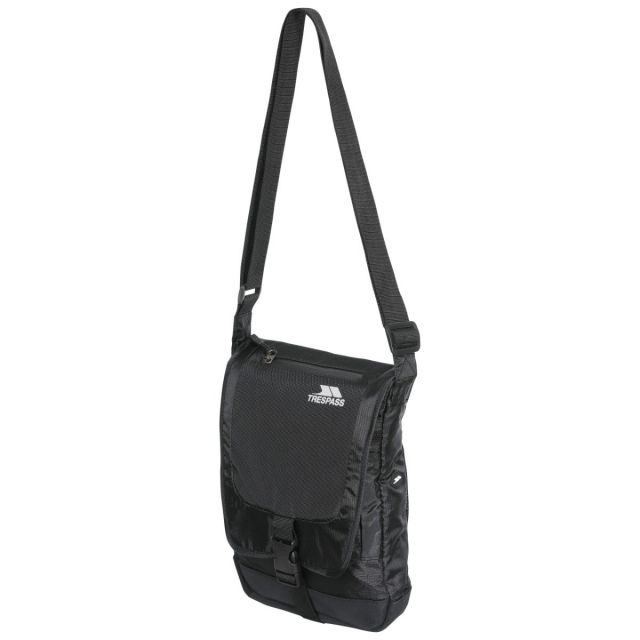 Strapper 2.5L Shoulder Bag in Black, Front view