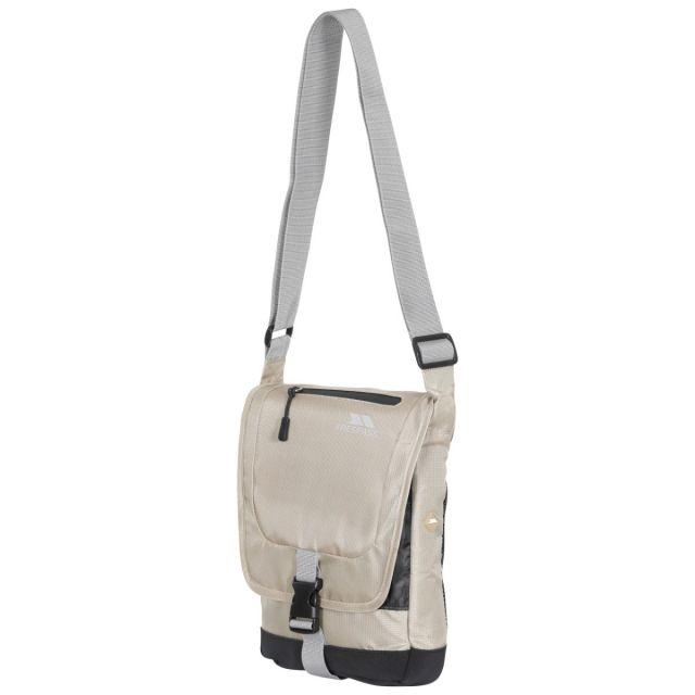 Strapper 2.5L Shoulder Bag in Beige, Front view