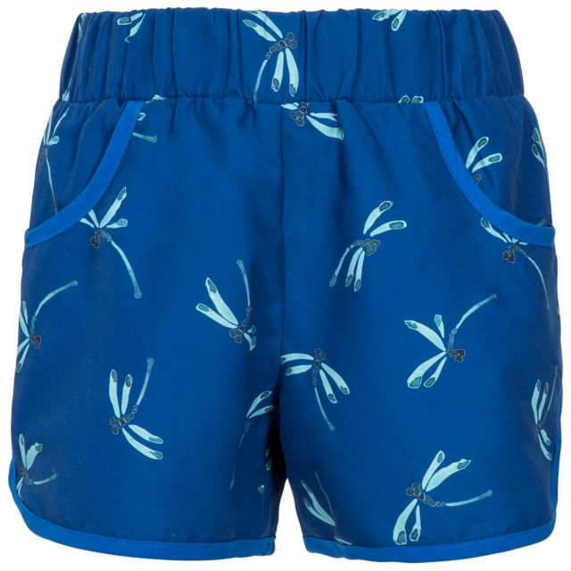 Stunned Kids' Board Shorts in Dark Blue, Front view on mannequin