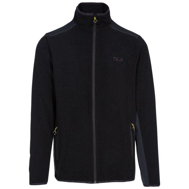 Sturgess Men's DLX Fleece Jacket in Grey, Front view on mannequin