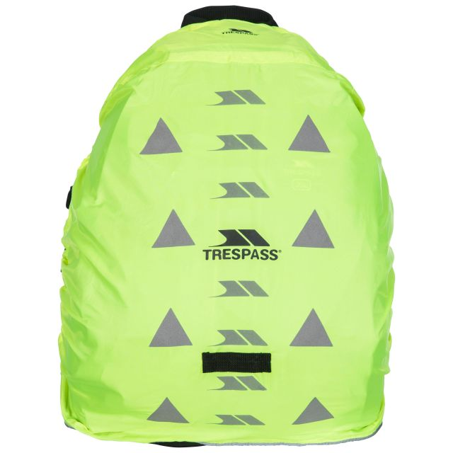 Reflective Rucksack Cover in Yellow, Angle view