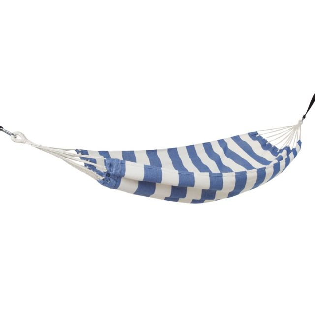 Trespass Striped Hammock in Harbour Blue Sway, Angled view of chair