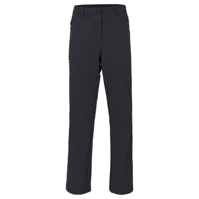 Swerve Women's DLX Quick Dry Walking Trousers in Black, Front view on mannequin