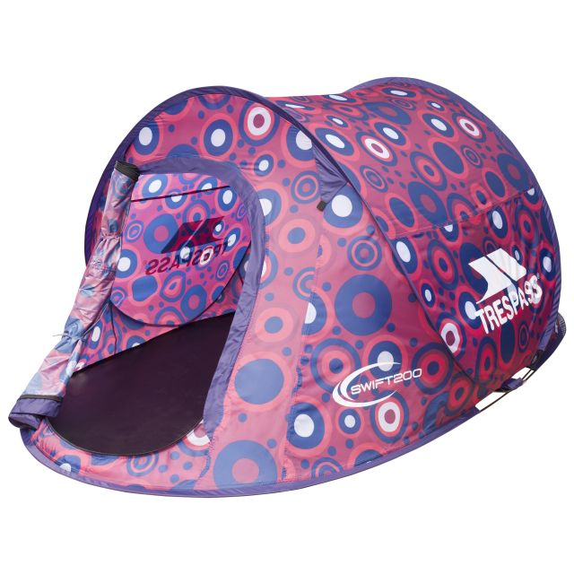SWIFT 200 Patterned 2 Man Pop Up Tent  in Pink