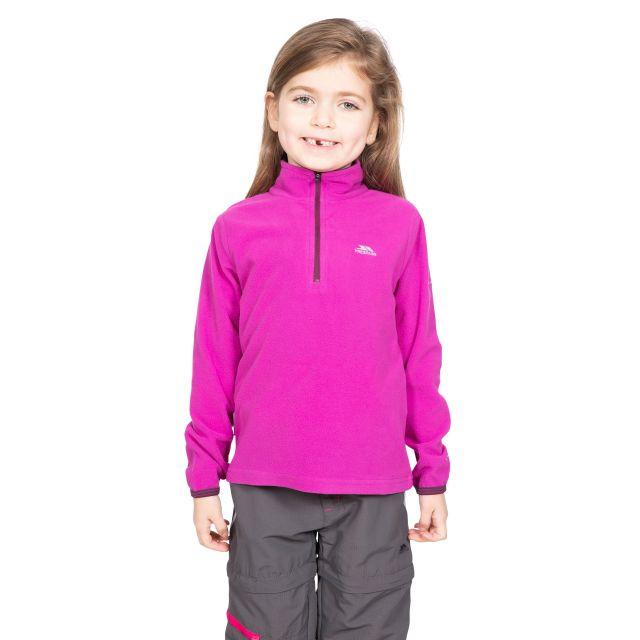 Trespass Kids Half Zip Fleece in Purple Sybil