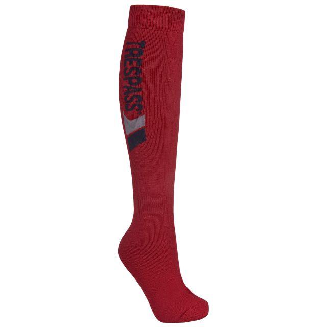 Trespass Unisex Tube Socks in Red Tech