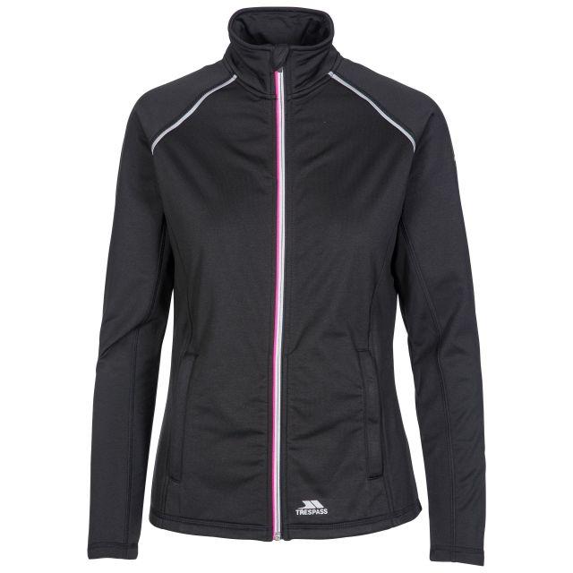 Teegan Women's Active Jacket in Black, Front view on mannequin