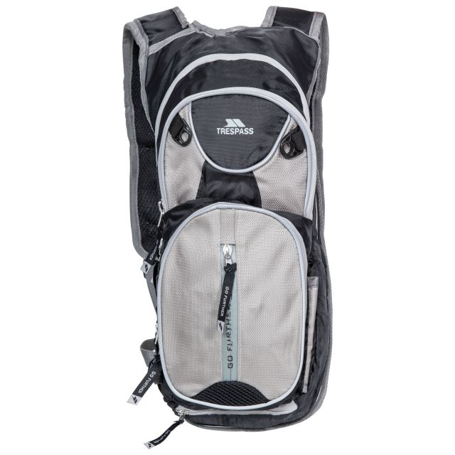 Terminal Cycling Hydration Pack in Black, Back view