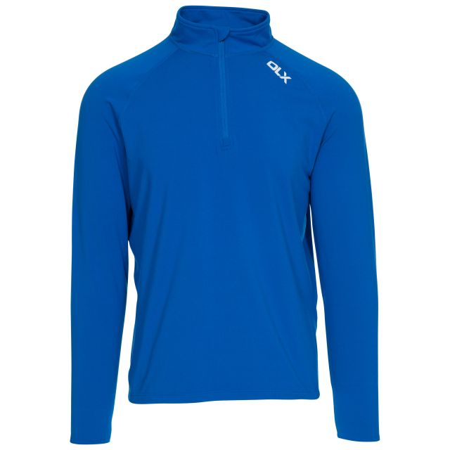 Tierney Men's DLX Active Top in Blue, Front view on mannequin