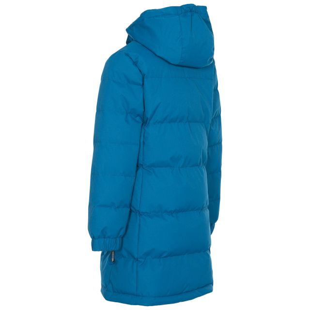 Trespass Girls Padded Jacket with Hood Tiffy in Blue