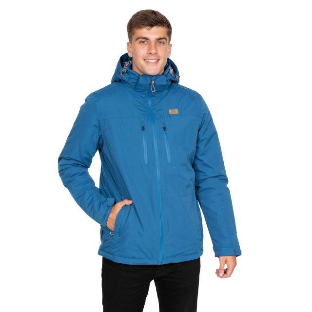 Toffit Men's Hooded Waterproof Jacket in Blue