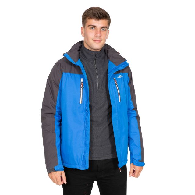Tolsford Men's Hooded Waterproof Jacket in Blue