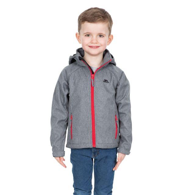 Trespass Kids Softshell Jacket in Grey Tommaso