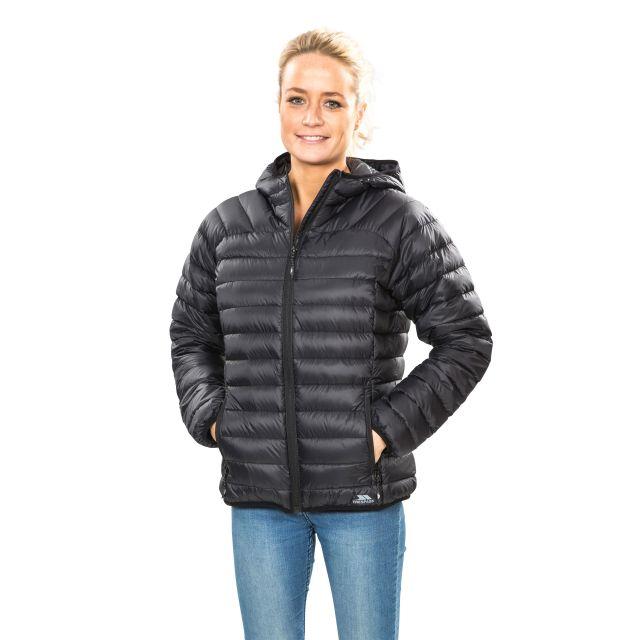 Trisha Women's Down Packaway Jacket in Black