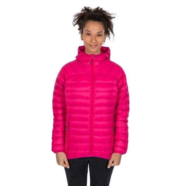 Trisha Women's Down Packaway Jacket in Pink