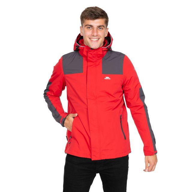Trolamul Men's Waterproof Jacket in Red