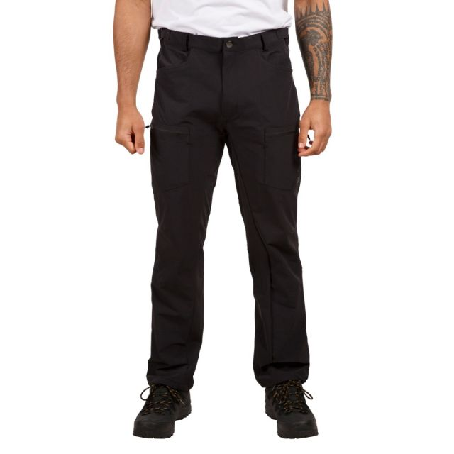 Tuned Men's Quick Dry Cargo Trousers in Black