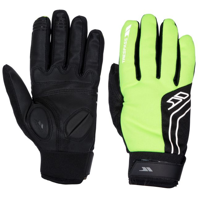 Trespass Adults Hi Vis Gloves in Yellow Turbo