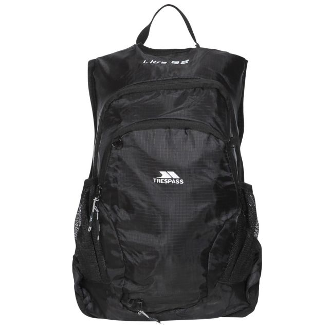 Ultra 22L Cycling Hydration Backpack in Black, Front view