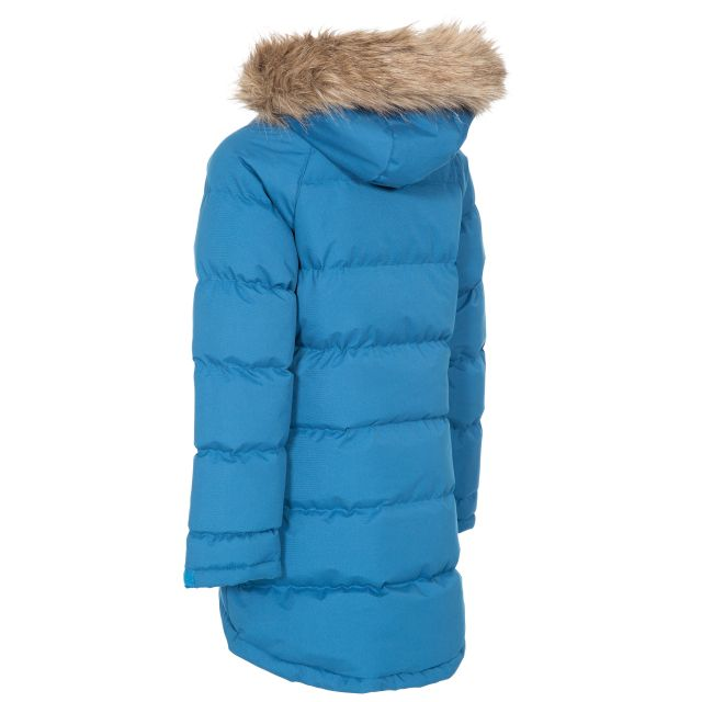 Trespass Kids Water Resistant Padded Jacket in Blue Unique