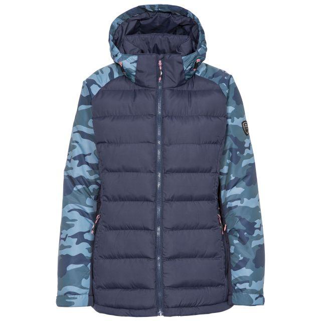 Urge Women's Windproof Ski Jacket in Navy, Front view on mannequin