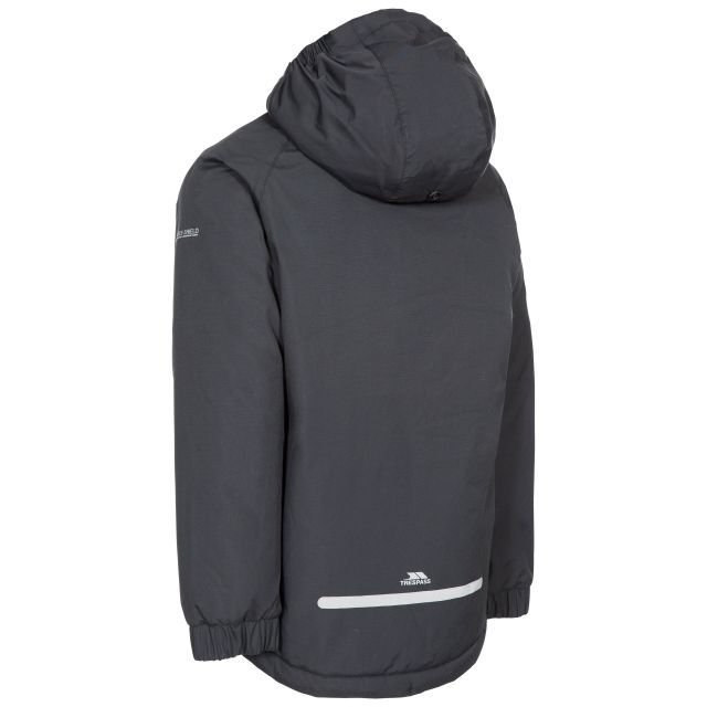 Trespass Kids Padded Waterproof Jacket in Black Useful