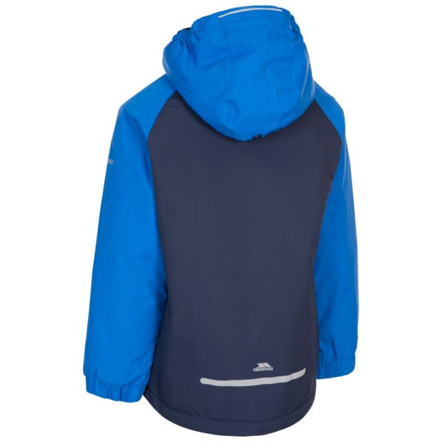 Trespass Kids Padded Waterproof Jacket in Navy Useful