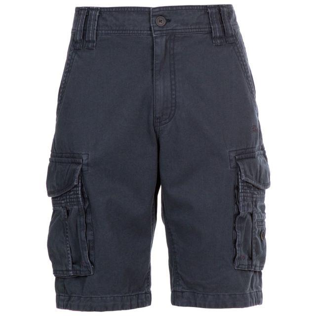 Usmaston Men's Cotton Cargo Shorts in Navy, Front view on mannequin