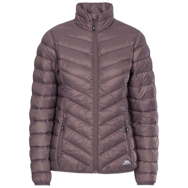 Valentina Women's Down Jacket in Light Purple, Front view on mannequin