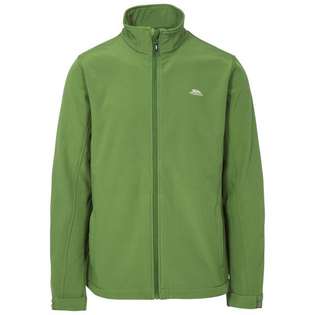 Vander Men's Softshell Jacket in Green, Front view on mannequin