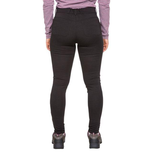 Vanessa Womens Water Resistant Walking Leggings in Black