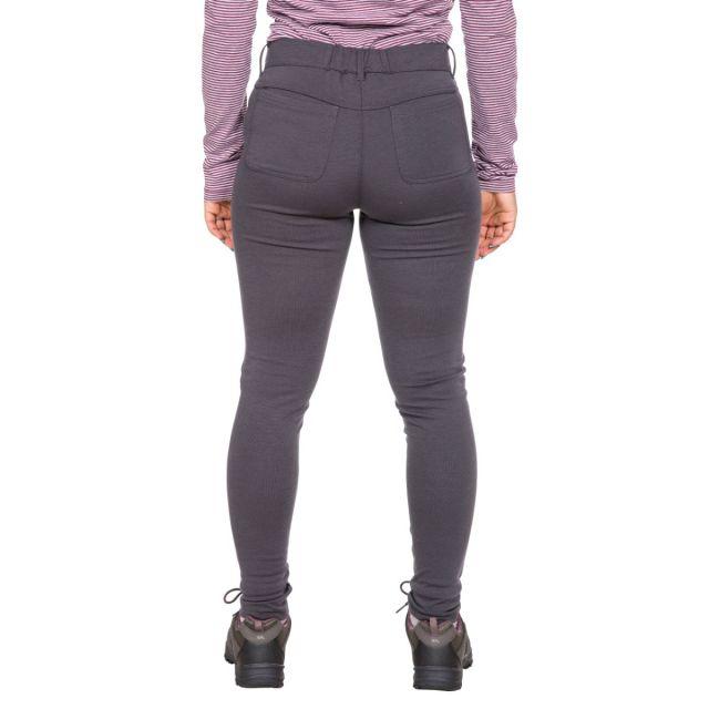 Vanessa Womens Water Resistant Walking Leggings in Dark Grey