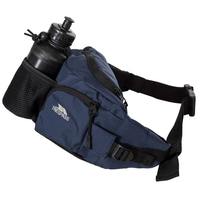VASP 5 Litre Travel Bum Bag with Padded Hip Belt in Navy, Front view