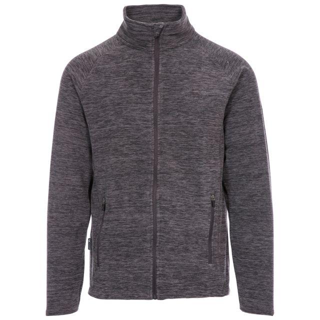 Veryan Men's Fleece Jacket in Grey, Front view on mannequin