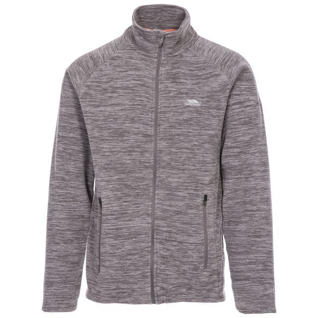 Veryan Men's Fleece Jacket in Light Grey, Front view on mannequin