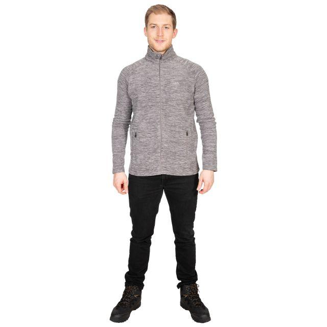 Veryan Men's Fleece Jacket in Light Grey