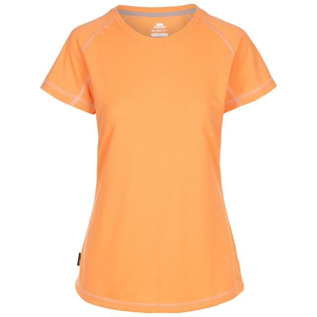 Trespass Women's Active T-Shirt Viktoria Orange, Front view on mannequin