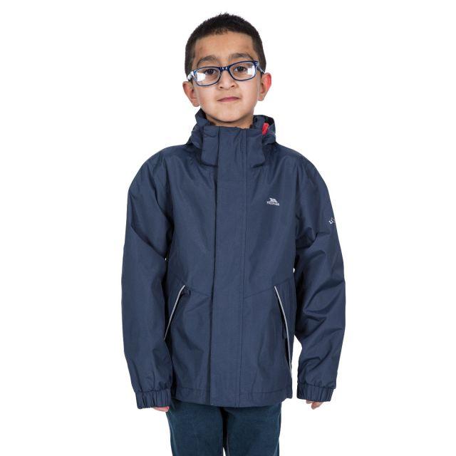 Trespass Kids Waterproof Jacket in Navy Vincenzo
