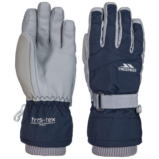 Trespass II Kids Waterproof Ski Gloves in Navy Vizza
