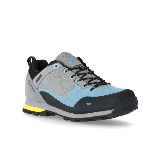 Vorce Men's Waterproof Walking Shoes in Grey, Angled view of footwear
