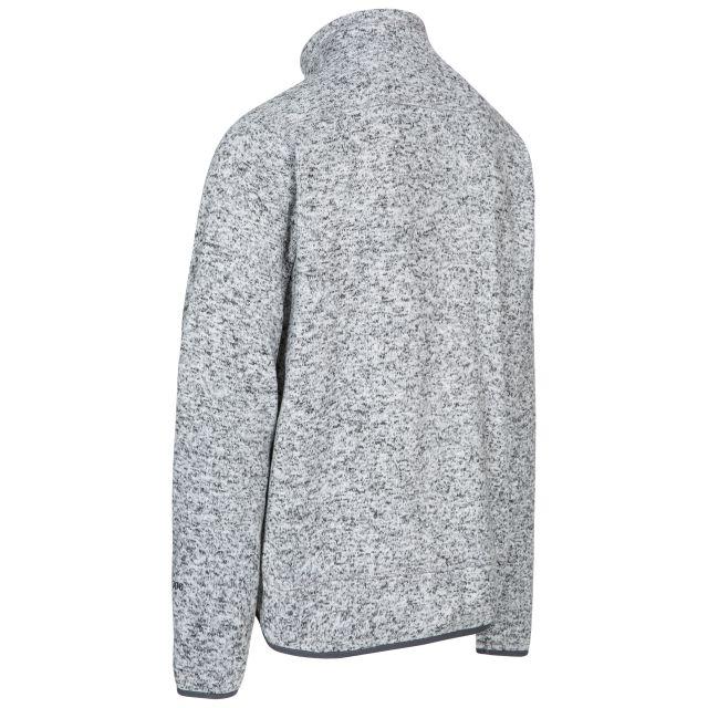 Wallow Men's Marl Fleece Jacket in Light Grey