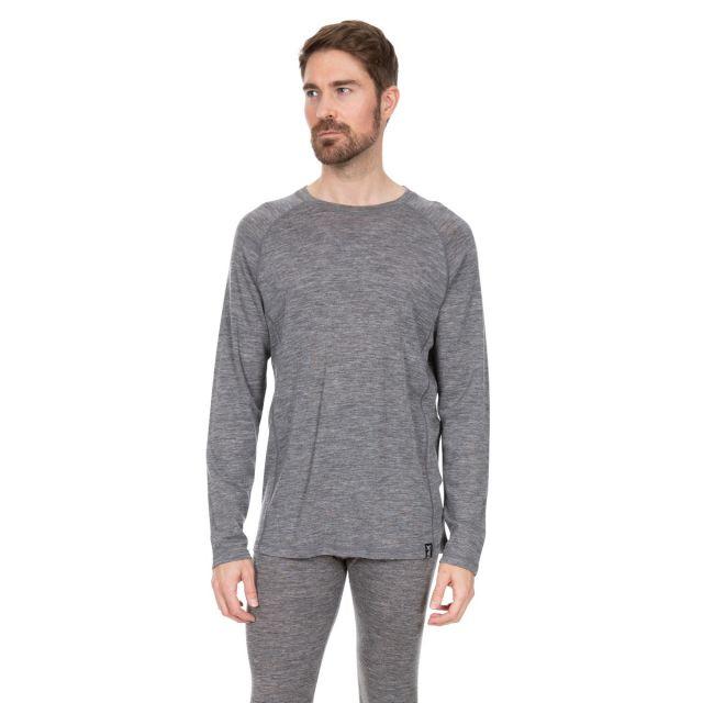 Trespass DLX Mens Grey Merino Wool Thermal Top Wexler
